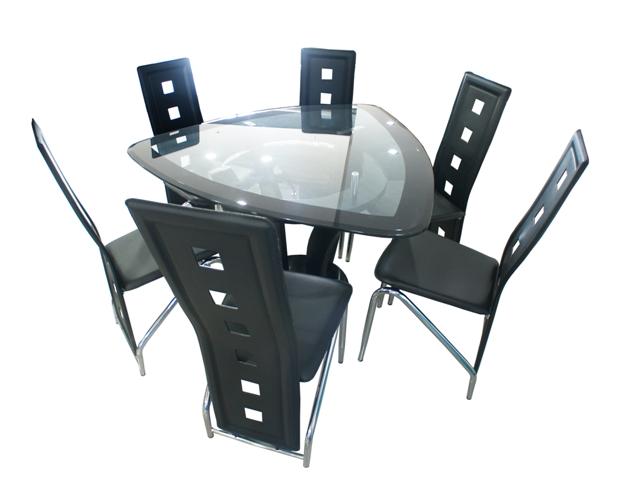 Design comedor triangular 6 sillas la mejor galer a de for Comedor triangular